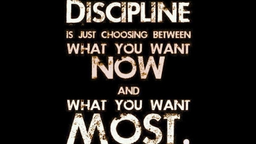 Discipline Creates Commitment