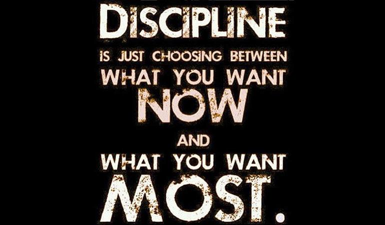 Discipline Creates Commitment